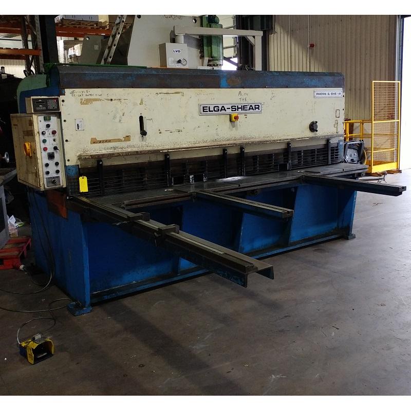 USED - Elga Shear CCO 3000mm x 6mm Hydraulic Guillotine