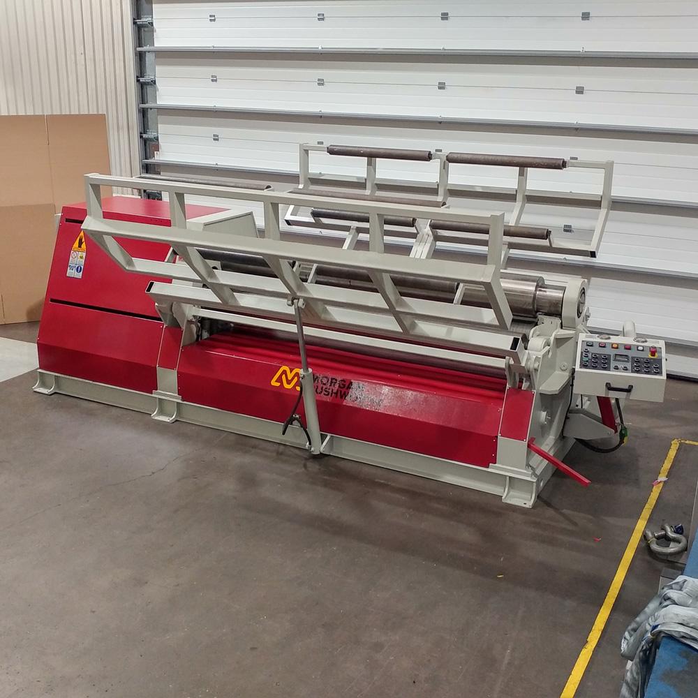 USED - Morgan Rushworth DPBH-4 2600/300 Hydraulic 4 Roll Bending Rolls